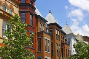 Dupont Circle row houses in Washington DC